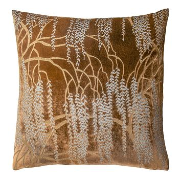 Copper Ivy Willow Metallic Pillows by Kevin O'Brien Studio
