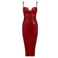 Baby Latex Dress BURGUNDY