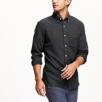 Old Navy Slim Fit Solid Flannel Shirt
