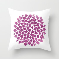 Radiant Throw Pillow by Color and Form