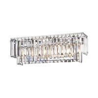 Palacial 3-Light Vanity Sconce in Polished Chrome with Clear Crystal