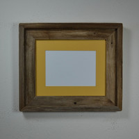 Rustic style 8x10 reclaimed wood picture frame with 5x7 or 8x6 mat