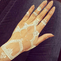 White Henna Cones Henna Cone Bridal White Henna White Tattoo Kit White Bridal Decor Instant White Henna Jewellery Tattoo Glitter Henna