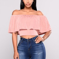 Alyson Off Shoulder Top - Mauve