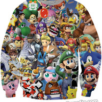 8-Bit Collage Crewneck Sweatshirt