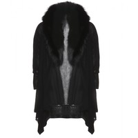 mytheresa.com -  Izzy fur-trimmed wool-blend cardigan - Luxury Fashion for Women / Designer clothing, shoes, bags