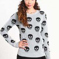 Double Knit Skull Sweater - LoveCulture