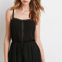 Lacy Pintucked Cami Romper