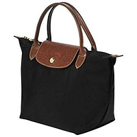 Longchamp Le Pliage Black Nylon Small Tote Bag Handbag
