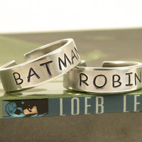 Batman and Robin Ring Set - Best Friends - Couples Ring Set = 1927828740