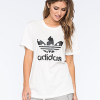 Adidas Originals Big Logo Dots Womens Tee White/Black  In Sizes