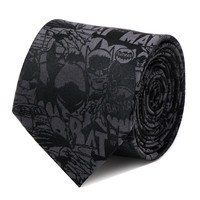 Batman Comic Black Mens Tie
