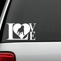 Pit Bull LOVE Decal Sticker