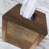 Tissue - Box Cover - Storage - Reclaimed - Barn Wood - Rustic Home Decor - Kleenex - Bath - Bathroom Decor - Farmhouse Chic - Wooden Box