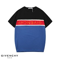 Givenchy 2019 new embroidered stitching LOGO round neck half-sleeved T-shirt