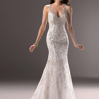 """Maggie Sottero """"Blakely"""" 3MS734, Ivory Size 10"""