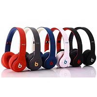 Beats Solo 3 Wireless Classic Cool Magic Sound Bluetooth Wireless Hands Headset MP3 Music Headphone with Microphone Line-in Socket TF Card Slot Black Muilt-color optional