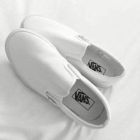 Vans Slip-On White Canvas Leisure Shoes F