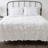 Day Dream White Full/Queen Size Comforter Bed Set