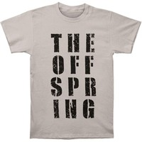 Offspring Men's  Block Letter Tee T-shirt Grey
