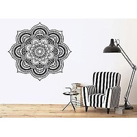 Wall Vinyl Sticker Mandala Enzo Circle Ornamental Floral Delicate Decor Unique Gift (n336)
