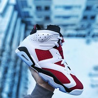 Nike Air Jordan 6 Retro Carmine 2021 Basketball Shoes Sneakers