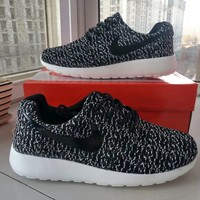 """Nike"" Unisex Sport Casual Flyknit Mixed Color Running Shoes Fashion Couple Sneakers"