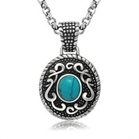 Gift Shiny New Arrival Jewelry Vintage Accessory Stylish Titanium Turquoise Necklace [9825707459]