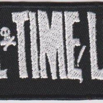 All Time Low Iron-On Patch White Letters Logo