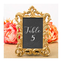 Gold Picture Frame - Size 4 x 6 - Baroque Table Number Frames - Wedding Favors Party Favor Victorian Bridal Shower