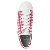 Red checkers printed converse Designer Sneakers Printed Shoes