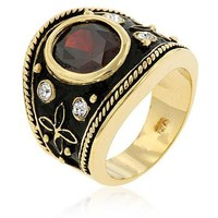 BEAUTIFUL  INDIAN LUSTER COCKTAIL RING SIZE 6 FREE SHIPPING