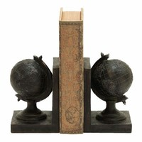 Benzara Elegant World Globe Themed Book End