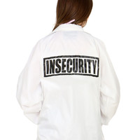INSECURITY WHITE COACHES JACKET