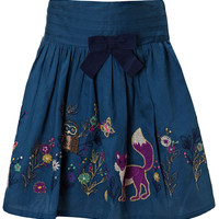 Woodland Embroidered Skirt   Navy   Monsoon