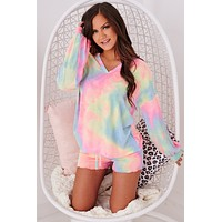 Morning Wake Up Call French Terry Tie Dye Set (Pastel Tie Dye)