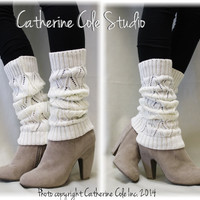 Leg warmer, SIMPLE ELEGANCE, basic, crochet, knit, women, slouch, Ivory |  LW0
