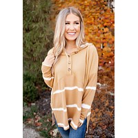 Carry On Waffle Pullover (Mustard) FINAL SALE