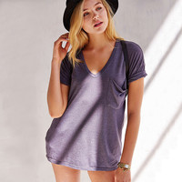 V-Neck One Pocket T-Shirt
