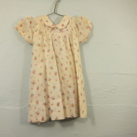 Vintage 40s Toddlers Frock / Girl's Dress / Fairy Tale / Loomcraft