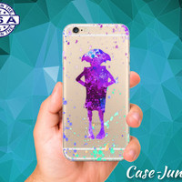 Dobby Silhouette Watercolor Paint House Elf iPhone 5 iPhone 5C iPhone 6 iPhone 6 + iPhone 6s iPhone 6s Plus iPhone SE iPhone 7 Clear Case