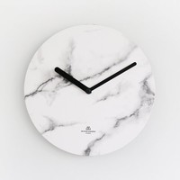 [SECOND MANSION] Object Clock (Mono) 6 Colors - White Marble