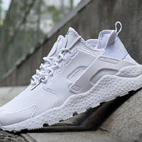 """NIKE"" Air Huarache Casual Running Sport Shoes Sneakers White"