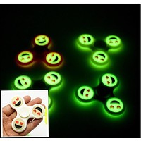 Luminous EDC Smile Face Hand Spinner Emoji Fidget Glow For Autism and ADHD Relief Focus Anxiety Stress Gift Fidget Toys