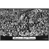 Rock and Roll Theater Howard Teman Art Poster 24x36