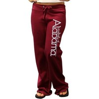 Alabama Crimson Tide Ladies Crimson Rugby Fleece Pants
