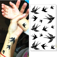 25 style Temporary Tattoo Body Art Winter Sparrows Designs Flash Tattoo Sticker Keep 3-5 days Waterproof 17*10cm