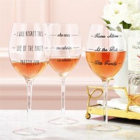 Two's Company Wine Not? Wine Glass