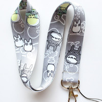 NEW 20pcs My Neighbor Totoro Neck Lanyard Multicolor Phone Accessories Cell Phone Camera Neck Straps Lanyard Gifts
