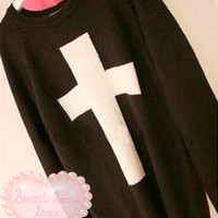 Cross Shape Sweater